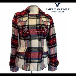 American Eagle outfitters plaid jacket size small